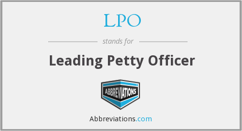 LPO - Leading Petty Officer