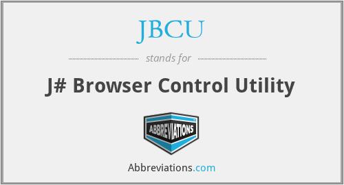 JBCU - J# Browser Control Utility
