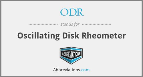 ODR - Oscillating Disk Rheometer