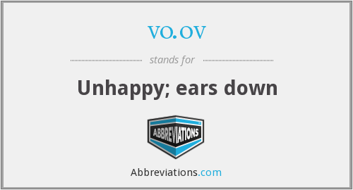 vo.ov - Unhappy; ears down