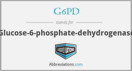 G6PD - Glucose-6-phosphate-dehydrogenase