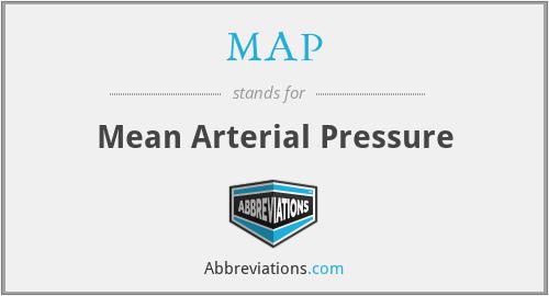 MAP - Mean Arterial Pressure