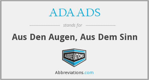 What does ADAADS stand for?