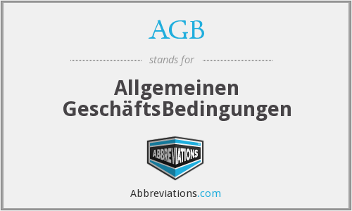 AGB - Allgemeinen GeschäftsBedingungen