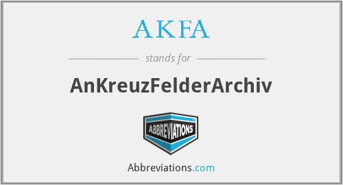 AKFA - AnKreuzFelderArchiv