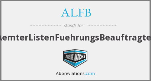 What does ALFB stand for?