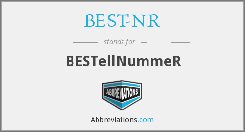 What does BEST-NR stand for?