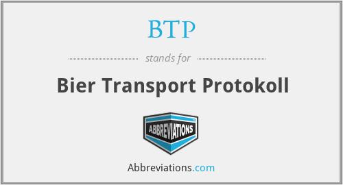 BTP - Bier Transport Protokoll
