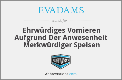 What does EVADAMS stand for?