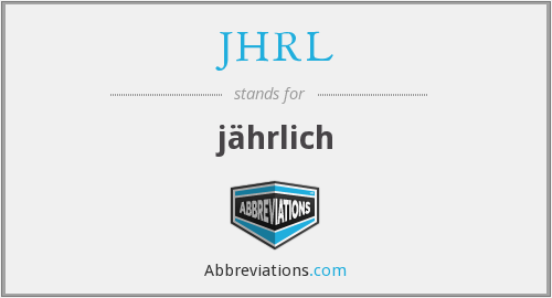 What does JHRL stand for?