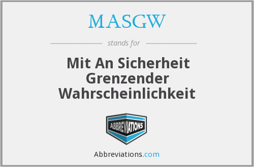 What does MASGW stand for?