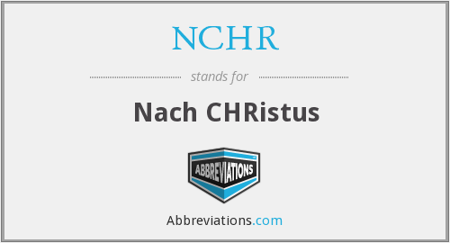 What does NCHR stand for?
