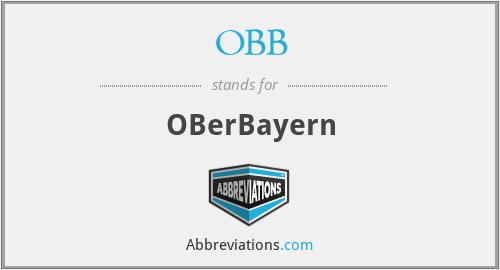 OBB - OBerBayern