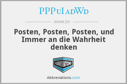What does Wahrheit stand for?