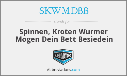 What does SKWMDBB stand for?