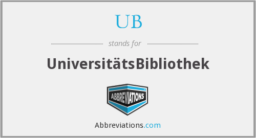 What does UB stand for?