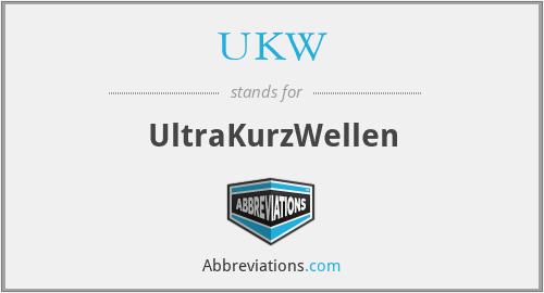 UKW - UltraKurzWellen