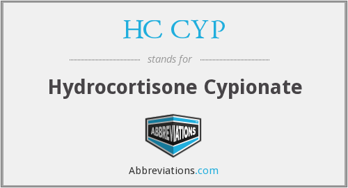 HC CYP - Hydrocortisone Cypionate