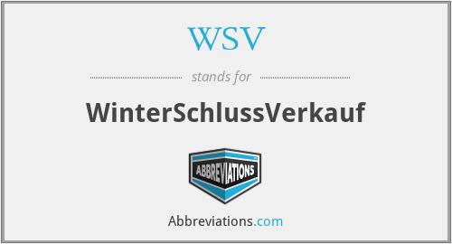 WSV - WinterSchlussVerkauf
