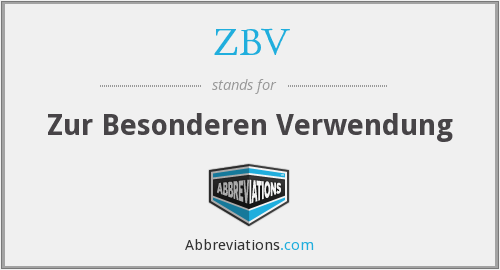 What does Z.B.V stand for?