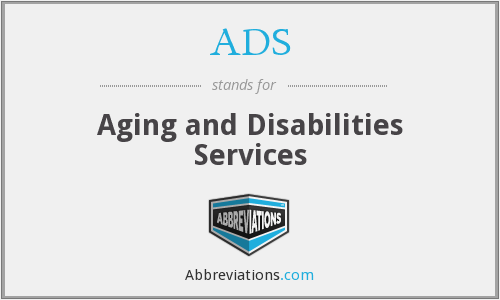 ADS - Aging and Disabilities Services