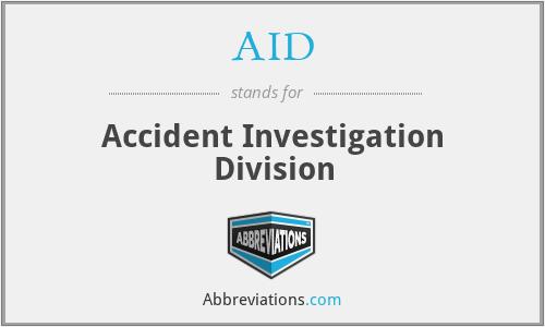 AID - Accident Investigation Division