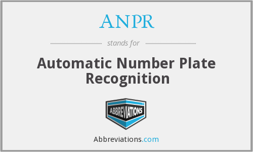 What does ANPR stand for?