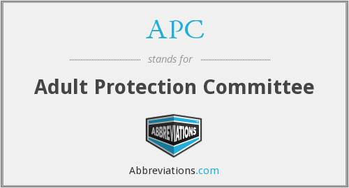 APC - Adult Protection Committee