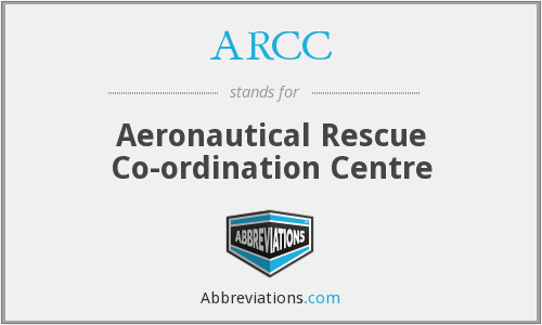 ARCC - Aeronautical Rescue Co-ordination Centre