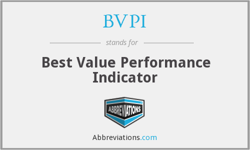 BVPI - Best Value Performance Indicator