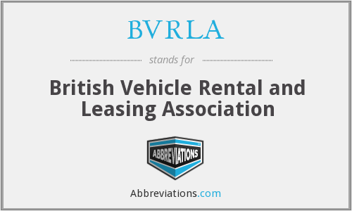 What does BVRLA stand for?