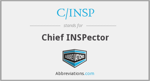 What does C/INSP stand for?