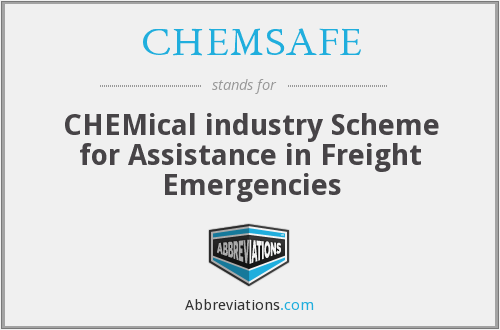 What does CHEMSAFE stand for?