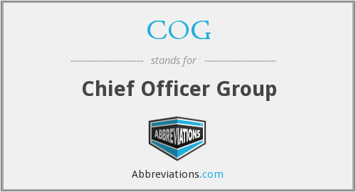 COG - Chief Officer Group