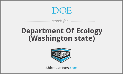 DOE - Department Of Ecology (Washington state)