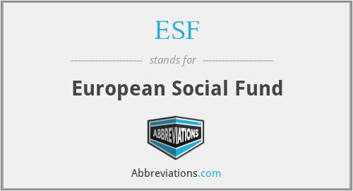 ESF - European Social Fund