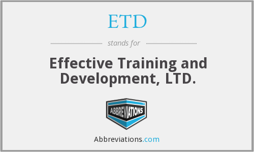 ETD - Effective Training and Development, LTD.