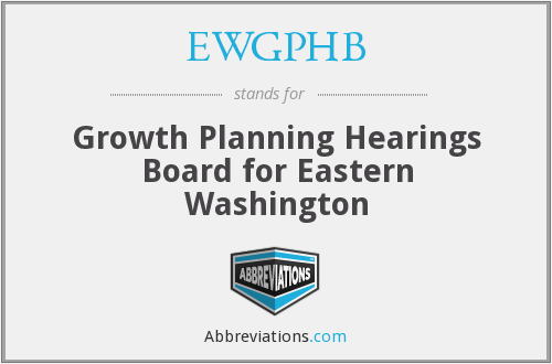 What does EWGPHB stand for?