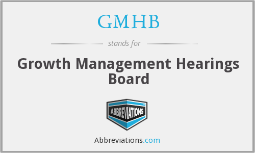 What does GMHB stand for?
