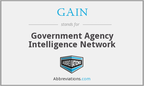 GAIN - Government Agency Intelligence Network
