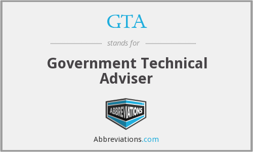 GTA - Government Technical Adviser