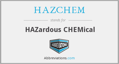 What does HAZCHEM stand for?