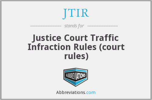 What does JTIR stand for?