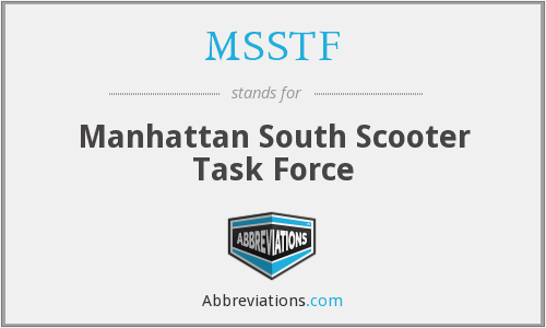 MSSTF - Manhattan South Scooter Task Force