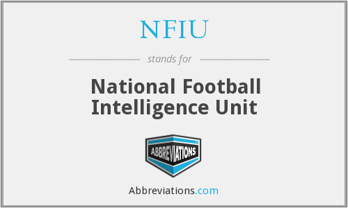 NFIU - National Football Intelligence Unit