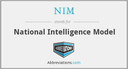 NIM - National Intelligence Model
