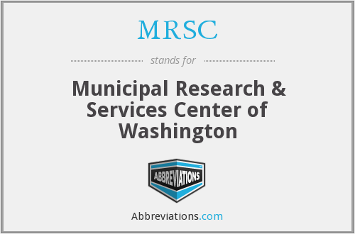 What does MRSC stand for?