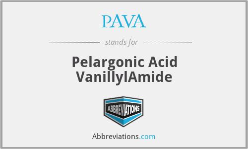 PAVA - Pelargonic Acid VanillylAmide
