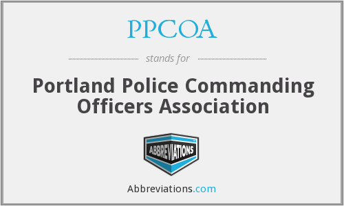 PPCOA - Portland Police Commanding Officers Association