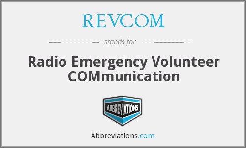 REVCOM - Radio Emergency Volunteer COMmunication